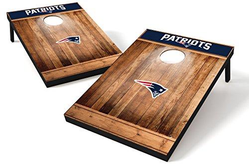 Wild Sports NFL New England Patriots 2x3 Cornhole Set - Brown Wood Design