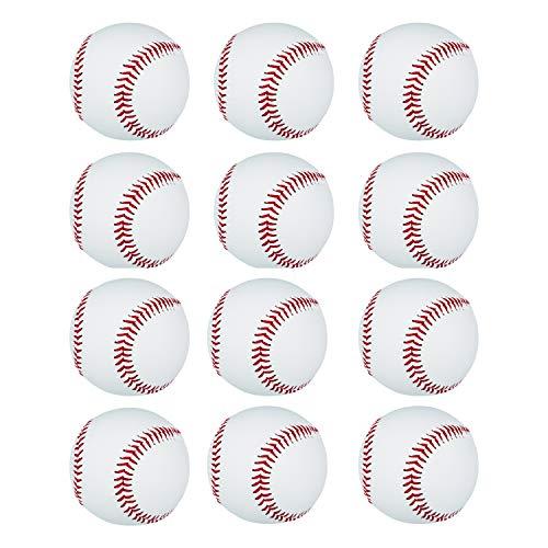 Gonex Practice Baseballs, Soft Safety Dozen T-Ball Balls for Kids Gifts Teen Boys Training, 12 Pack Standard Size, with Mesh Bag and Mark Pen