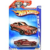 Hot Wheels 2009 Muscle Mania 1967 Shelby Ford Mustang GT-500 GT500 Maroon Red WALMART REDLINES