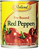 Roland Fire Roasted Peppers, Red, 28 Ounce (Pack of 4)