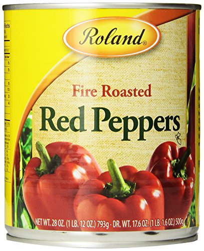 Roland Fire Roasted Peppers, Red, 28 Ounce (Pack of - Pepper Red Bell Roast