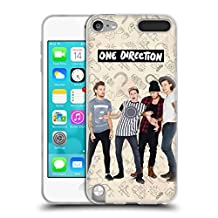 Official One Direction Brown Group Icon Soft Gel Case for Apple iPod Touch 5G 5th Gen