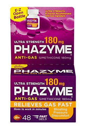 Phazyme Ultra Strength Gas and Bloating Relief | 180 Mg | 48 FAST GELS (Best Medication For Bloating)