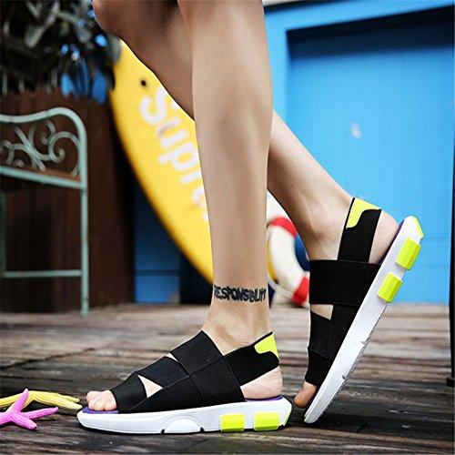 pantofole Sandali Casual Da Uomo Da EU Dimensione Uomo Sandali spiaggia Colore Wagsiyi Sandali 2 Traspiranti Viola 3 Scarpe Casual da Nero 40 d5xXYq