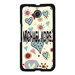 Trendy Google Nexus 6 Michael & kors Phone Case,Michael & kors Pattern Luxury Logo Back Cover For Google Nexus 6