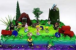 Legend of Zelda Birthday Cake Topper Set Featuring Link, Zelda, Phantom, Bryne, Anjean, Chancellor Cole, Big Blin, Alfonzo, Ferrus, Spirit Train and Unique Zelda Decorative Elements