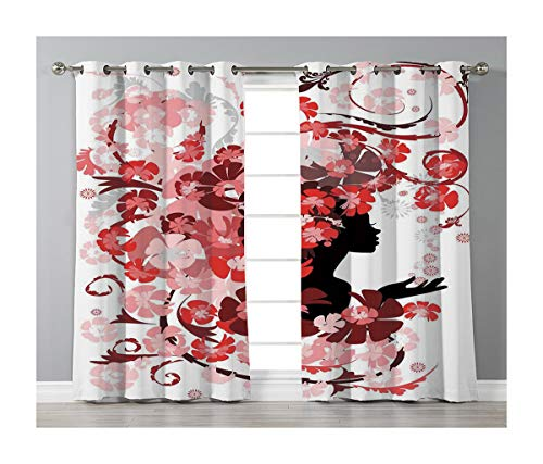 Goods247 Blackout Curtains,Grommets Panels Printed Curtains Living Room (Set of 2 Panels,52 84 Inch Length),Girls