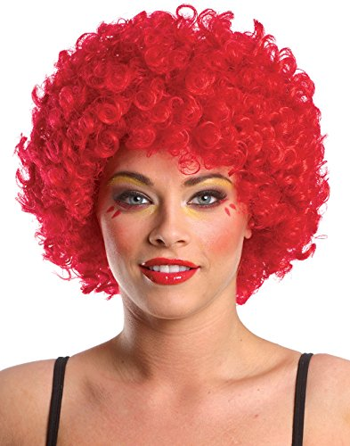 Costume Culture Men's Afro Clown Wig, Red, One (Red Afro)