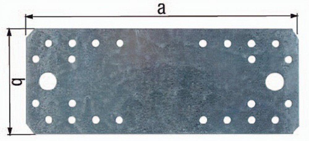 Flachverbinder 175x65x3, 0 verzinkt GAH