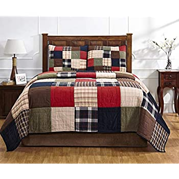 Image of Amity Home Soho Patchwork Quilt Set (Queen)