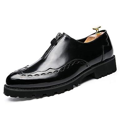 f4f5562d479c6 Amazon.com: MUMUWU Men's Oxfords Mirror PU Leather Design Flat Heel ...