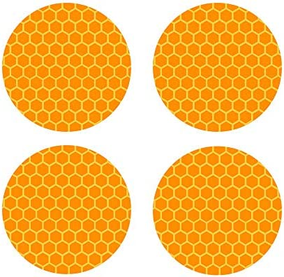 biinfu Conspicuity Safety Caution Warning Sticker for Car Truck Trailer Reflective Round Diamond Grade Sticker Motorcycles /& Other Safety Needs-Orange