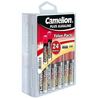 Camelion Alkaline Plus AAA Batteries - Blister Pack of 24