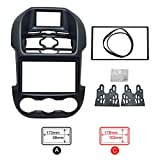 FEELDO Car 2DIN Refitting Audio DVD Panel Frame Panel Radio Fascia Frame Kit Face Plate for Ford Ranger (Luxury type)