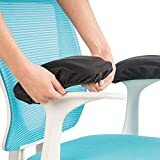 Adjustable Office Chair Arm Pads: Memory Foam Armrest Pad Cover Relieves Forearm and Elbow Pain; Computer Desk Chair Arm Covers & Comfy Elbow Cushion Replacement Arm Rest Pillows (Set of 2) Arms 6-11
