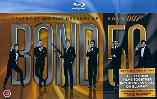 James Bond Collection 23-Disc Box Set ( Skyfall / Quantum of Solace / Casino Royale / Die Another Day / The World Is Not Enough / Tomorrow Never Dies / GoldenEy [ Blu-Ray, Reg.A/B/C Import - Denmark ] by Kobe Film