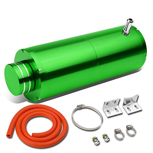 Universal Anodized Aluminum Coolant Recovery Bottle Tank Reservoir W/ Removable Cap (Green) Vapor Recovery System