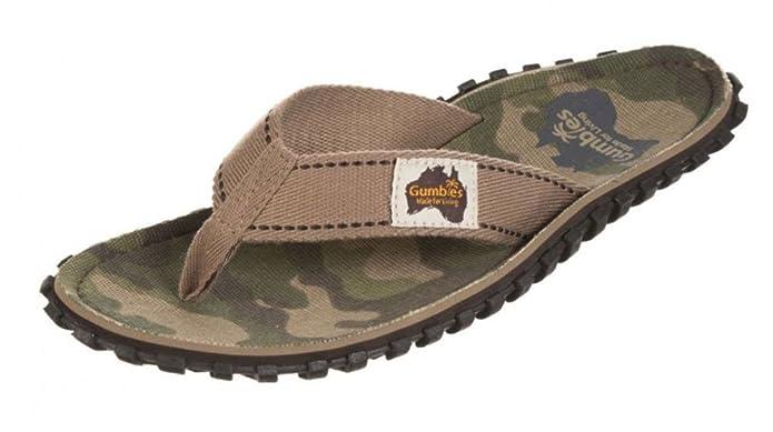 GUMBIES Flip Flops Unisex, Camouflage, Größe 38