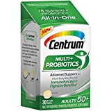 Centrum Multi + Probiotics (30 Count, 1 Month Supply) Adult Multivitamin and Probiotic Supplement for Adults Over 50, with BB-12 Probiotic Strain, Vitamins A, C, D, E, B-Vitamins and Zinc For Sale