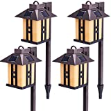 GIGALUMI Solar Garden Lights Outdoor, Landscape Lighting for Lawn/Patio/Yard/Pathway/Walkway