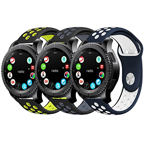 Gear S3 Bands, KADES 22mm Universal Replacement Strap with Quick Release Pin Compatible for Samsung Galaxy Watch 46mm/ TicWatch Pro/Amazfit Stratos Smart Watch