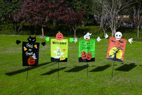 Halloween Nylon Feather Flags with Spring for $<!--$16.94-->