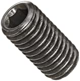 Alloy Steel Set Screw, Black Oxide Finish, Hex Socket Drive, Flat Point, Meets DIN 914, 30mm Length, M8-1.25 Metric Coarse Threads, Imported (Pack of 100)