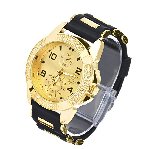 watches techno pave silicon band - 9