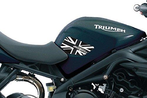 2 Rodilleras Tanque 3D Compatible para Moto Triumph Street Triple