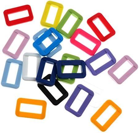dailymall 20個のカラフルなKAM樹脂ループスライドウェビングストラップ用コネクタ - 20mm