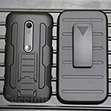 Motorola Moto G3 Case, Cocomii Robot Armor NEW [Heavy Duty] Premium Belt Clip Holster Kickstand Shockproof Hard Bumper Shell [Military Defender] Full Body Dual Layer Rugged Cover XT1540 XT1548 (Black)