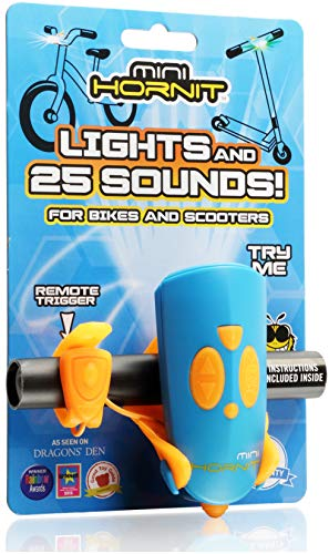 Hornit MINI HORNIT BUOR Fun Horn and light gift for kids bike & scooters, Blue and - Italian Lamp Horn