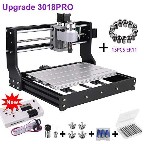 Upgrade Version CNC 3018 Pro GRBL Control DIY Mini CNC Machine, Wood Router  Engraver with Offline Controller + 5mm ER11 PCB +20PCS 3 175MM CNC Router