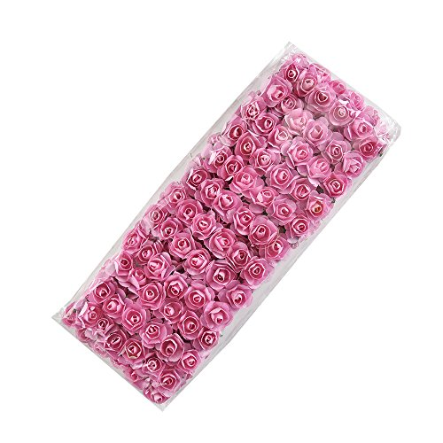 (Artificial Flowers 144 Mini Cute Pink Paper Handmade for Wedding Decoration DIY Gift Wreath Scrapbooking Crafts Floral (Pink))
