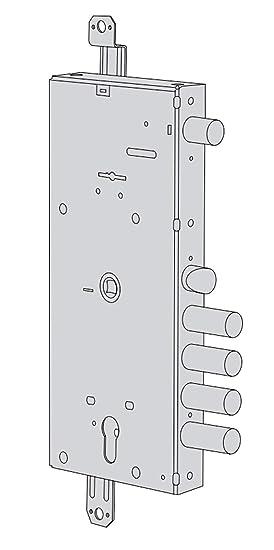 Cerradura de Doble Parche, Plurifunción para Puerta blindada ...