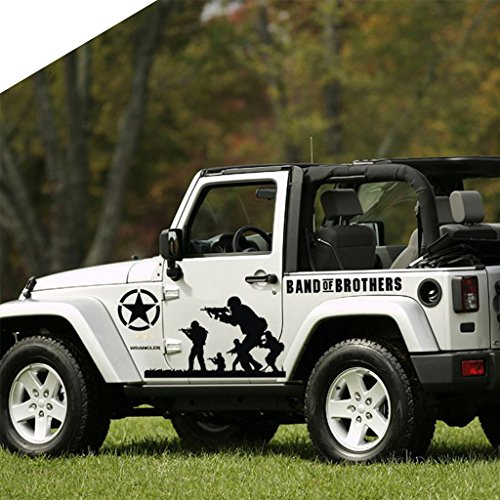 Truck Side Skirts - Kaizen Band of Brothers Vinyl Sticker Side Skirt Decal Whole Body Graphic Decal For Jeep Wrangler and Any Motorcycle,SUV,Truck or Sedan Car Color Black