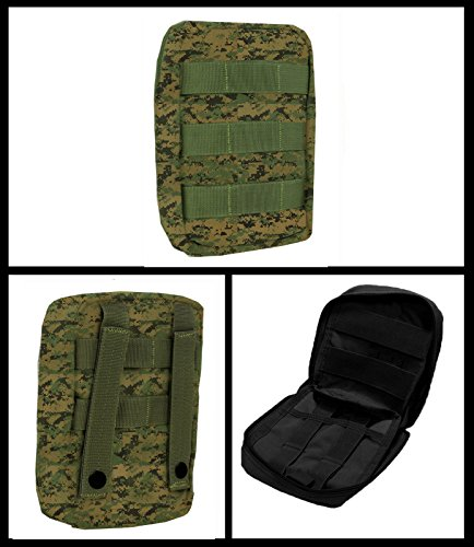 Ultimate Arms Gear Deluxe Heavy Duty Marpat Woodland Digital Camo Camouflage EMS EMT Emergency Medical Paramedic Rescue Supplies Gear Pack Trauma Equipment First Aid Kit Carry Rescue MOLLE Pouch