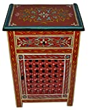 Red Painted Wood Armoire With Single Door