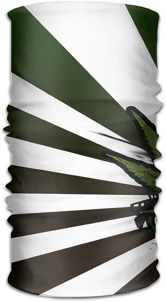 Headwear Headband Dark Leaves Pattern Head Scarf Wrap Sweatband Sport Headscarves For Men Women