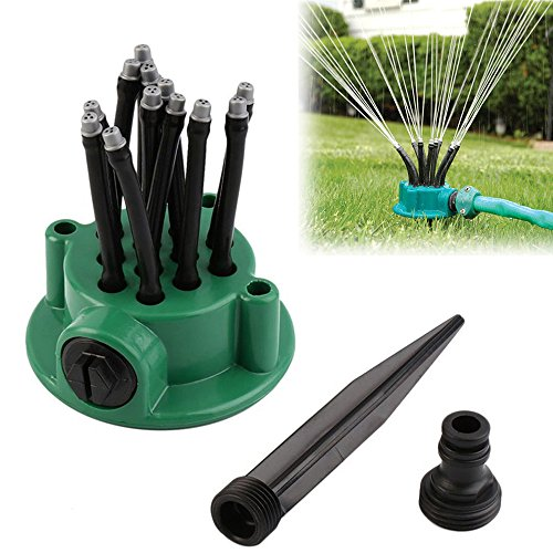 HSada Durable Lawn Sprinkler - A Nozzle with 3 Separate Orifices Garden Hose Watering Sprinkler Head - Adjustable Spray Angle and Distance Water Sprinklers for Lawn,Garden,Yard,Park