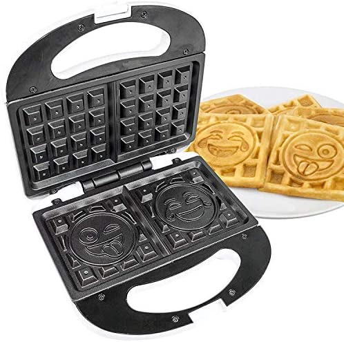Emoji Universe 2 Slice Emoji Waffle Maker, Waffle Iron