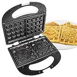 Emoji Universe: 2 Slice Emoji Waffle Maker, Waffle Iron