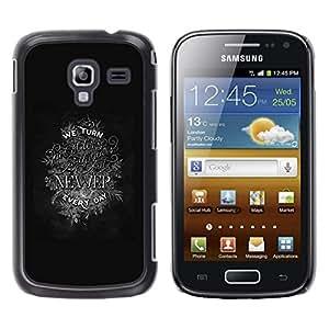 Be Good Phone Accessory // Dura Cáscara cubierta Protectora Caso Carcasa Funda de Protección para Samsung Galaxy Ace 2 I8160 Ace II X S7560M // Newer Inspiring Motivational Text