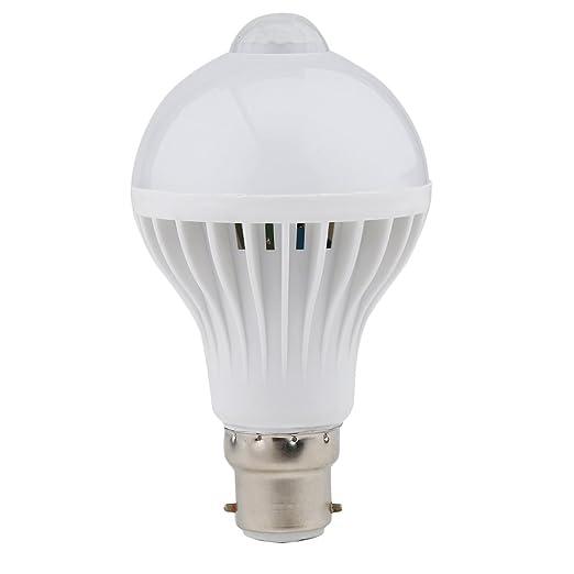 ONEVER B22 LED PIR Sensor de movimiento Lámpara 7W cuerpo humano Inducción Bombilla