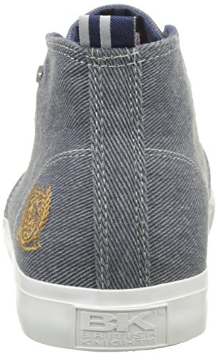 British Knights Herren Devon Mid Hohe Sneaker, Blau, 45 EU Blau (Blue)