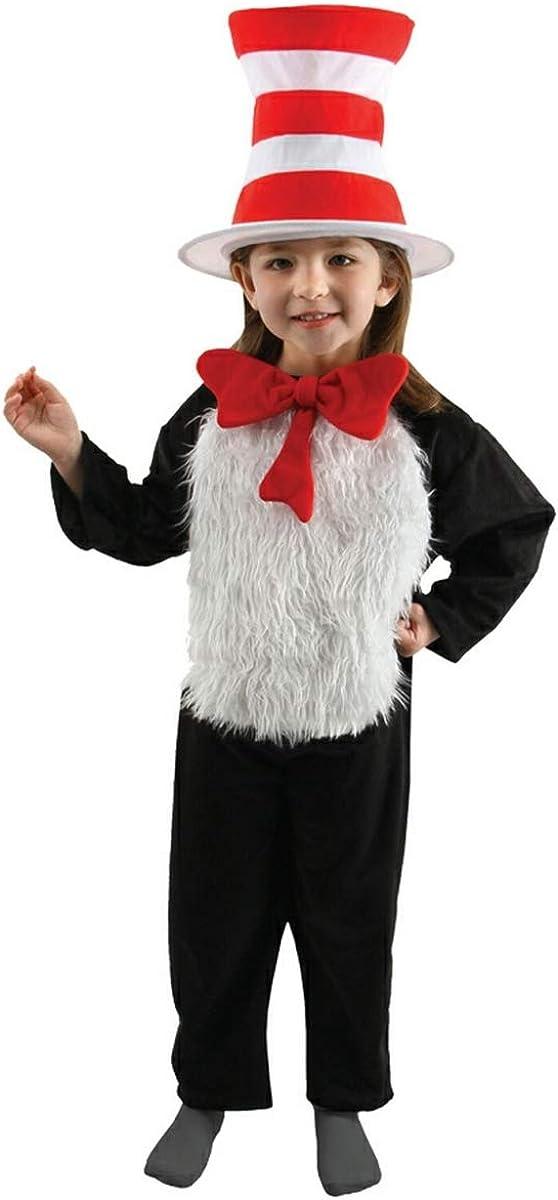 elope Dr Seuss Cat in the Hat Deluxe Kids Costume S 4-6