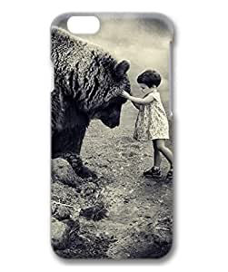iCustomonline iPhone 6 Plus Bear and Girl Back 3D Hard Shell Cover Case for iPhone 6 Plus(5.5 inch)