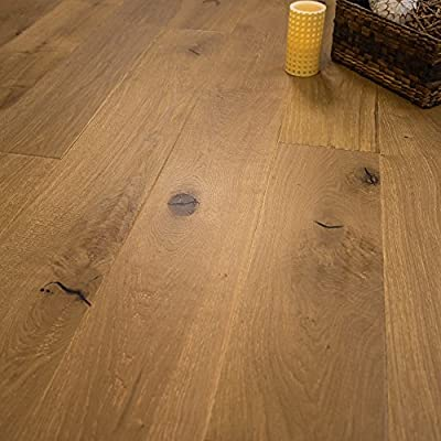 "Wide Plank 7 1/2"" x 1/2"" European French Oak (Old Vineyard) Prefinished Engineered Wood Flooring Sample at Discount Prices by Hurst Hardwoods by Hurst Hardwoods"