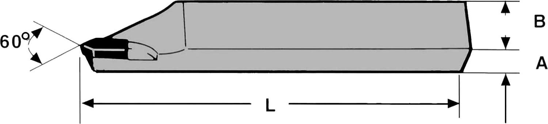 8 x 8 x 90 mm DIN 282 P20 Hartmetall Aussengewinde Drehmeissel 60/° rechts