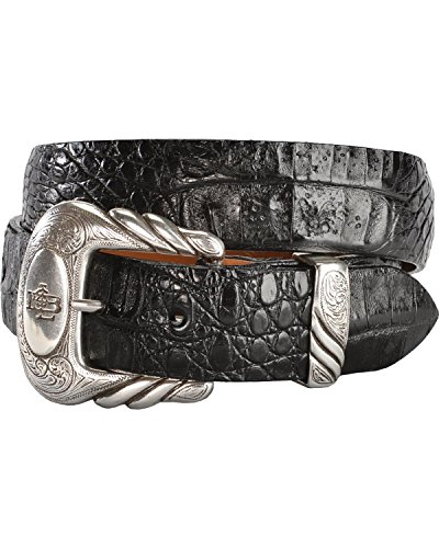 Lucchese Men's W9321 Black Hornback Caiman Belt 36 by Lucchese (Image #2)